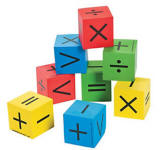 "Math Dice (1-1/2"" sq)"