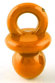 Bright Pacifier Bead (Orange)