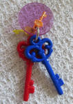 Busy Beaks Key Dangle