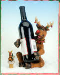 Reindeer Bottle Holder with Topper