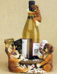 Poker Dogs Wine Bottle Holder