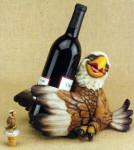 Eagle Wine Bottle Holder with Topper