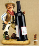 Cowboy Wine Bottle Holder with Topper